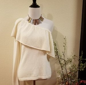 Ella Moss One Shoulder/Sleeve Sweater Size Small